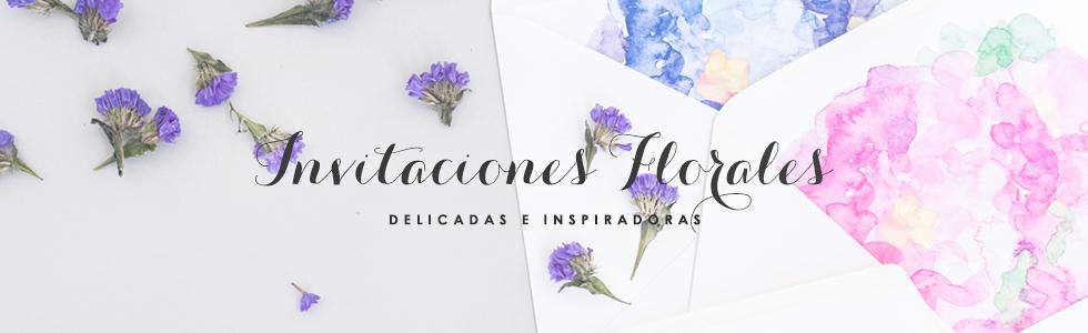 Invitaciones florales - Micrapel Bodas